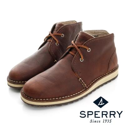 SPERRY 經典輕量化皮革沙漠靴(男)-咖啡