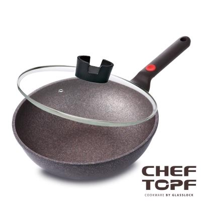 韓國 Chef Topf 崗石系列耐磨不沾炒鍋28公分(附鍋蓋)
