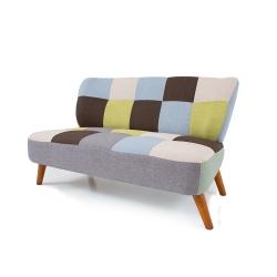 日安家居-摩登拼布雙人沙發
