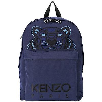 KENZO Tiger Canvas 老虎刺繡圖騰帆布後背包(深藍色)