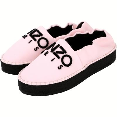KENZO Kosy 字母LOGO毛絨襯裡厚底鞋(粉色)