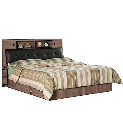 品家居 萊森6尺雙人加大收納床台組合(不含床墊)-182x217x106cm免組