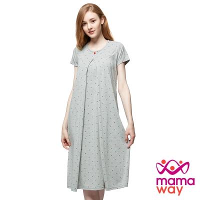 mamaway媽媽餵 點點米奇頭孕哺居家洋裝(共2色)