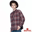 BRAPPERS 男款 英倫風格條紋襯衫-暗紅