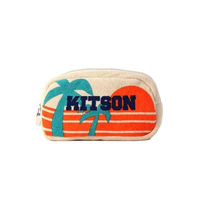 kitson 輕柔毛巾布化妝包- BEIGE