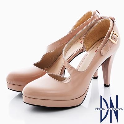 DN 甜美性感 MIT頂級羊漆皮S曲線跟鞋 粉