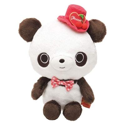 巧克貓熊櫻桃甜點系列毛絨小公仔-貓熊