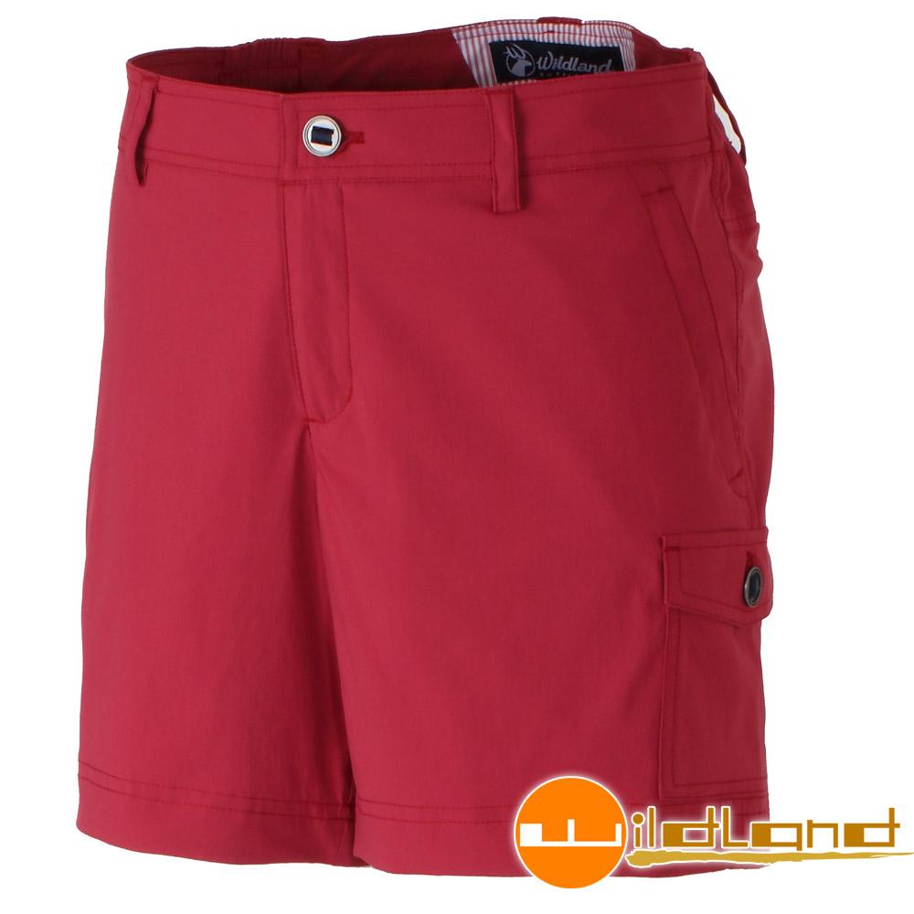 Wildland 荒野 0A31381-17嫣紅色女 彈性抗UV短褲/休閒短褲
