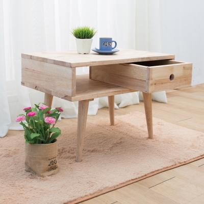 諾雅度 原生實木2尺含抽置物櫃(低腳/附一抽屜)