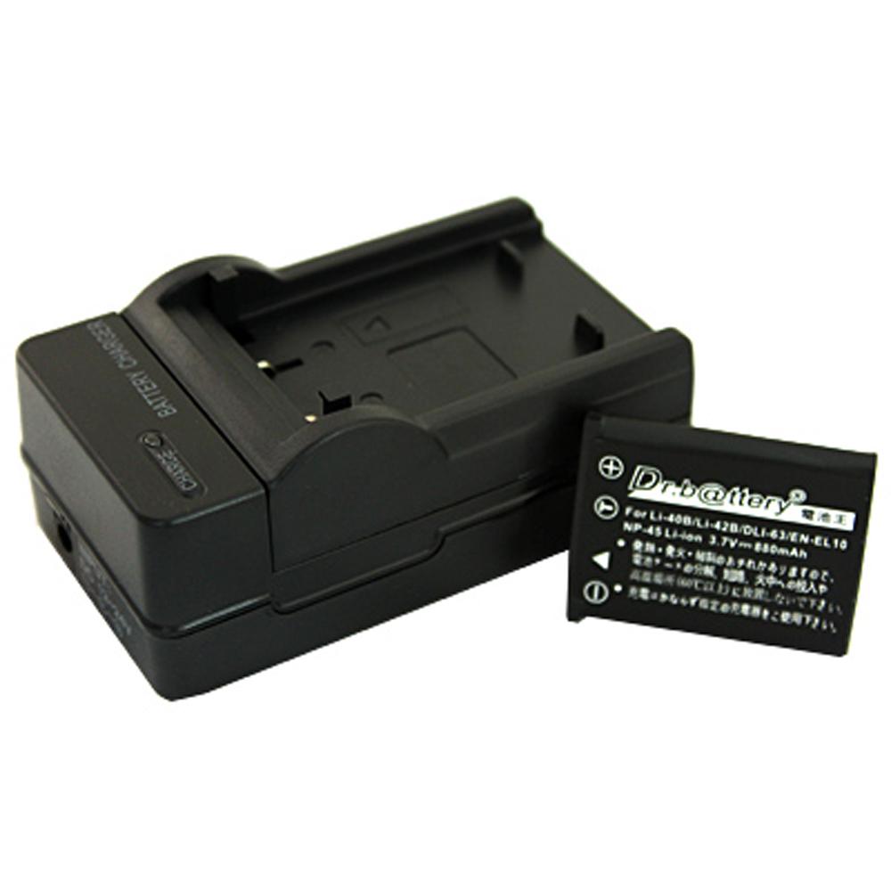 電池王 For OLYMPUS Li-40B/Li40B 高容量鋰電池+充電器組