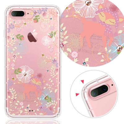 YOURS APPLE IPhone7 Plus奧地利水晶彩繪防摔氣墊手機鑽殼-秘境