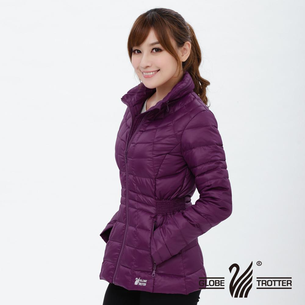 【遊遍天下】女款顯瘦JIS90%羽絨防風防潑水中長版羽絨外套G0322深紫