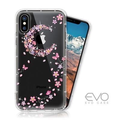 EVO CASE iPhone X 奧地利水鑽殼 - 櫻月