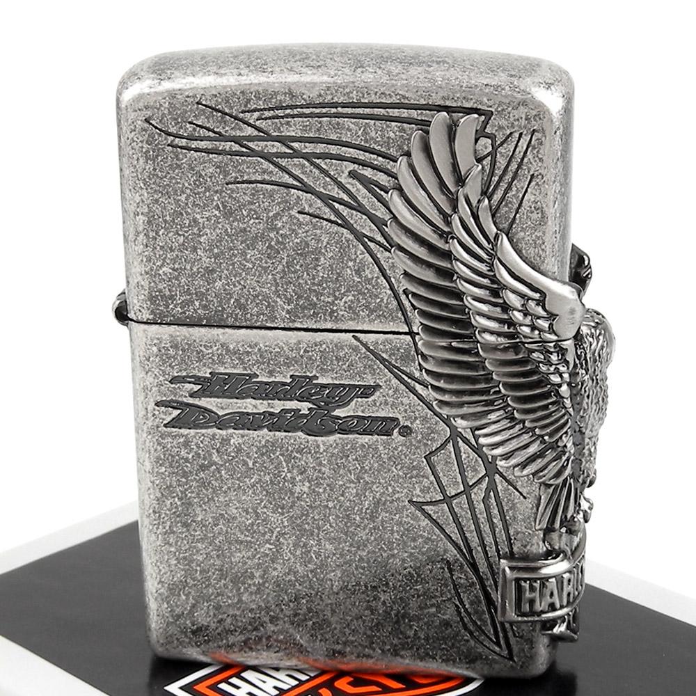 ZIPPO 日系~Harley-Davidson-哈雷-3面連續金屬貼飾打火機 @ Y!購物