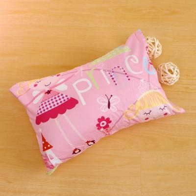 鴻宇HongYew 美國棉防蹣抗菌 公主城堡粉-兒童透氣多孔纖維枕