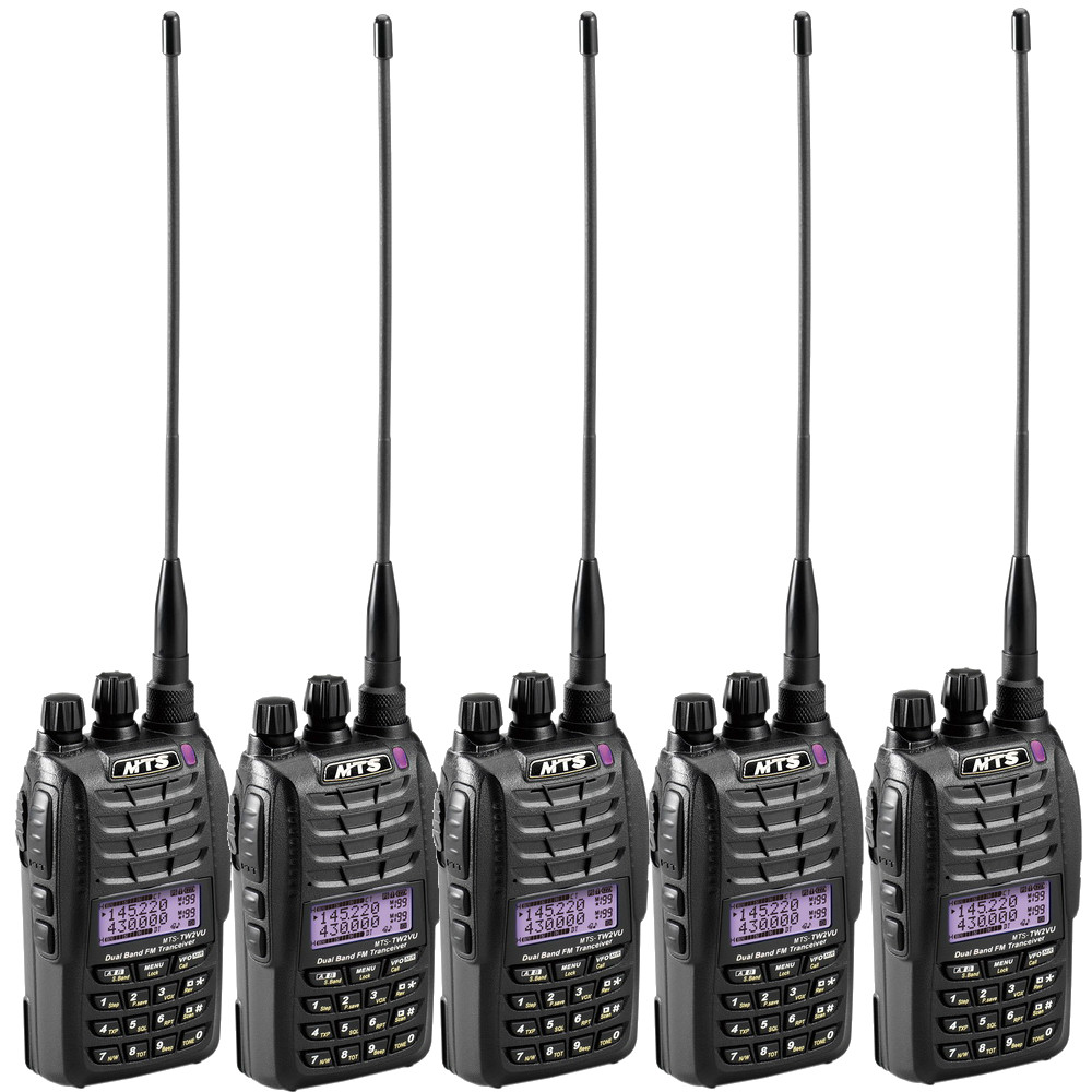 MTS TW2VU 雙頻雙顯示無線電對講機(超值5入組合)