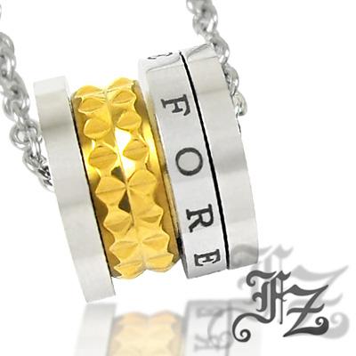 【FZ】永恆光圈白鋼項鍊(金)