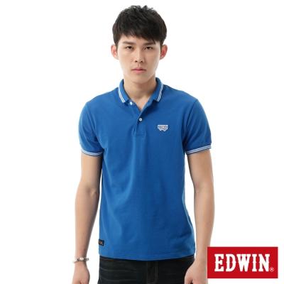 EDWIN-POLO衫-簡潔都會POLO衫-男-藍色