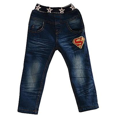 SUPER MAN刷毛牛仔長褲 k60619 魔法Baby
