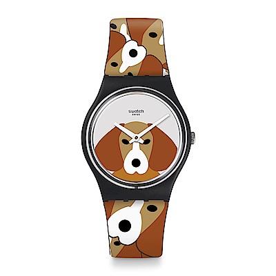 Swatch 英倫風情FOX THE DOG 獵犬追逐手錶