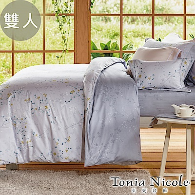 Tonia Nicole東妮寢飾 夏日午後環保印染精梳棉兩用被床包組(雙人)