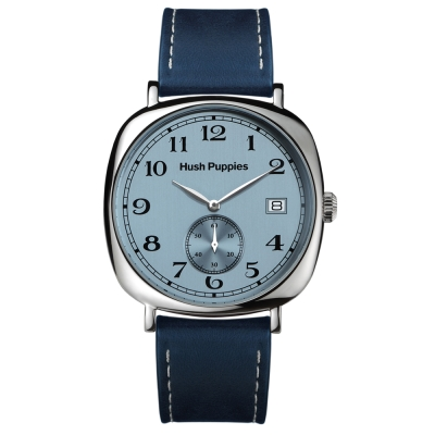Hush Puppies 經典復刻懷舊腕錶-藍 /43mm