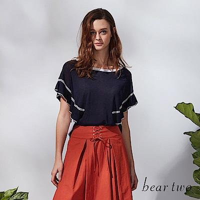 beartwo 波希米亞波浪寬袖造型上衣 (二色)