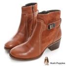 Hush Puppies 拼接造型短靴-棕色
