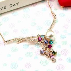伊飾晶漾iSCrystal 珍珠多彩流星項鍊