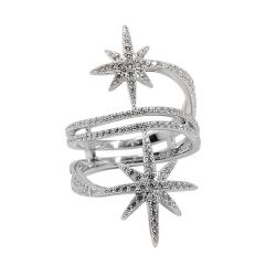 apm MONACO法國精品珠寶 閃耀銀色雙繁星鑲