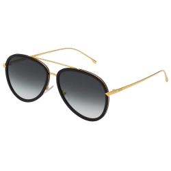 FENDI  雷朋造型 太陽眼鏡 (黑配金)FF0155S