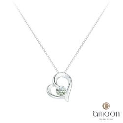 amoon 日式鉑金系列 寵愛 鉑金鑽石墜子 送18K金純銀項鍊