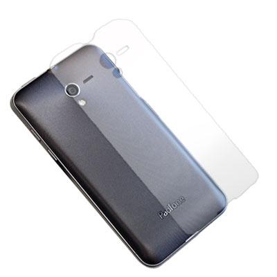 ASUS PadFone 變形手機 超透超顯影機身背膜(貼)-二入