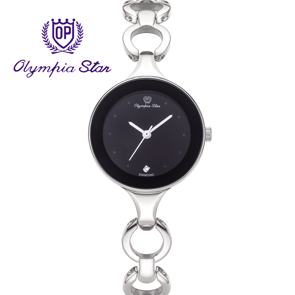 Olympia Star 奧林比亞之星  極簡風尚珠寶腕錶 -黑  28030LS