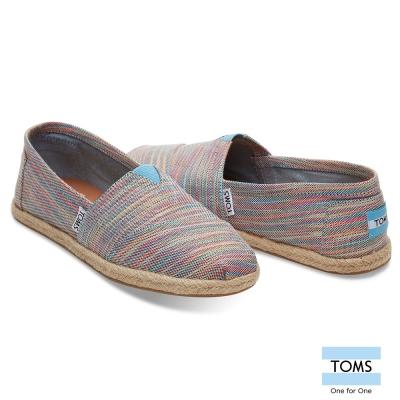 TOMS 彩色織紋草編懶人鞋-女款