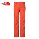 The North Face北面女款紅色保暖防水透氣滑雪長褲