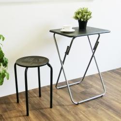 Amos-午後小品摺疊咖啡桌(2入)38x48x66cm