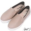 Ann'S進化2.0!荔枝牛紋不磨腳顯瘦厚底懶人鞋-灰