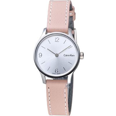 Calvin Klein Endless 摩登時尚細緻女錶-白x粉色錶帶/26mm