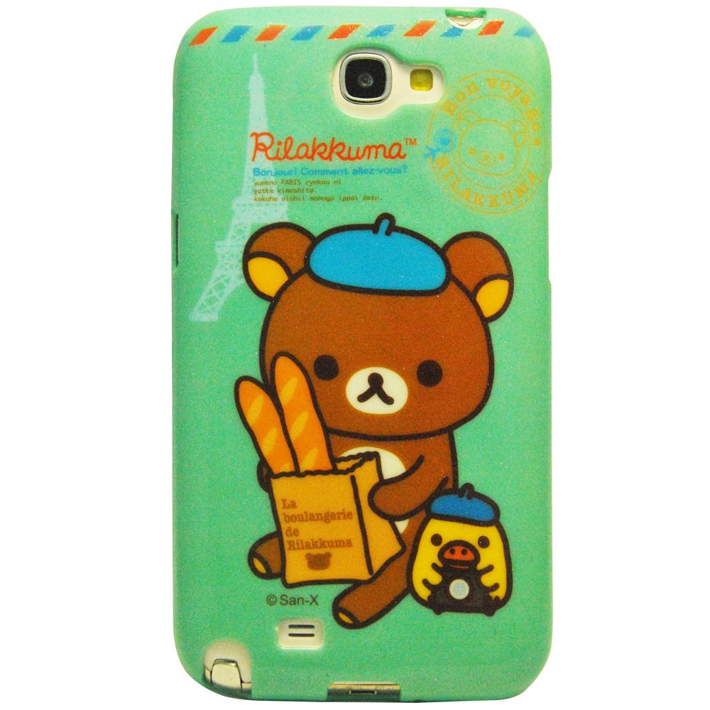 Aztec 拉拉熊 Samsung Note 2 矽膠軟手機殼-法國麵包