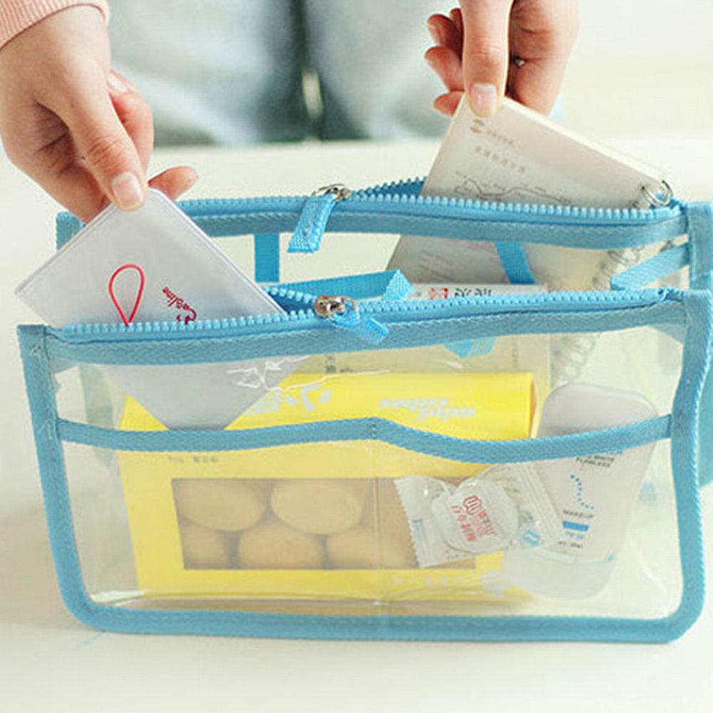 iSFun 分格透視 多格收納包中袋 五色可選