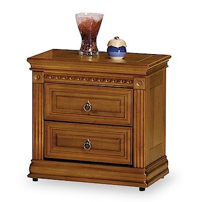 時尚屋 迪倫樟木色2尺床頭櫃 寬58x深54x高45cm