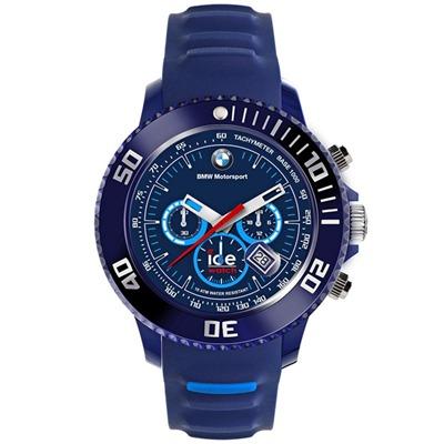 Ice-Watch BMW運動系列 摩登潮流計時手錶-藍x藍圈/48mm