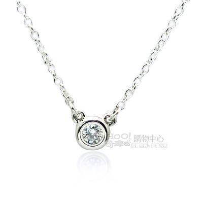 TIFFANY&Co.Elsa Peretti 0.05克拉圓形鑽石純銀項鍊