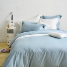 Cozy inn 簡單純色-灰藍 特大四件組 200織精梳棉薄被套床包組
