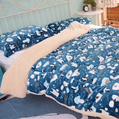 絲薇諾 海洋寶貝 羊羔法蘭絨被/單人-150×200cm