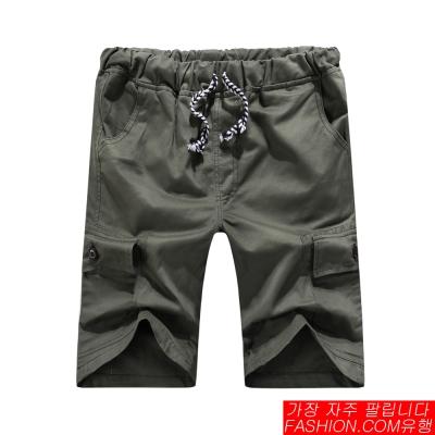 FASHION館 潮流outdoor機能口袋素色工作短褲