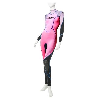 V.DIVE 威帶夫 女魅系列 女版高彈超薄潛水服 粉紅