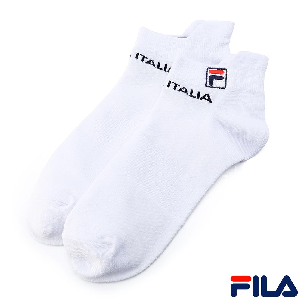 FILA基本款棉質薄底踝襪-白SCR-1000-WT