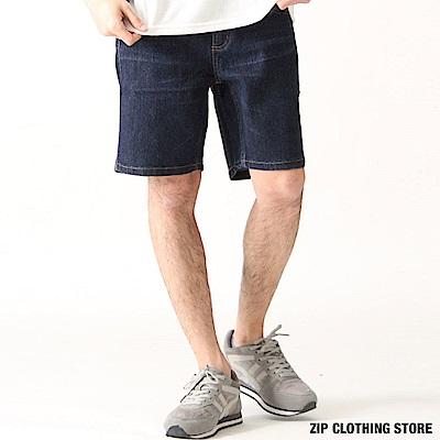 牛仔棉麻丹寧短褲(3色) ZIP日本男裝